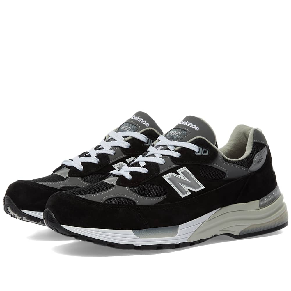 New Balance M992EB - Made in the USA - Black & Silver