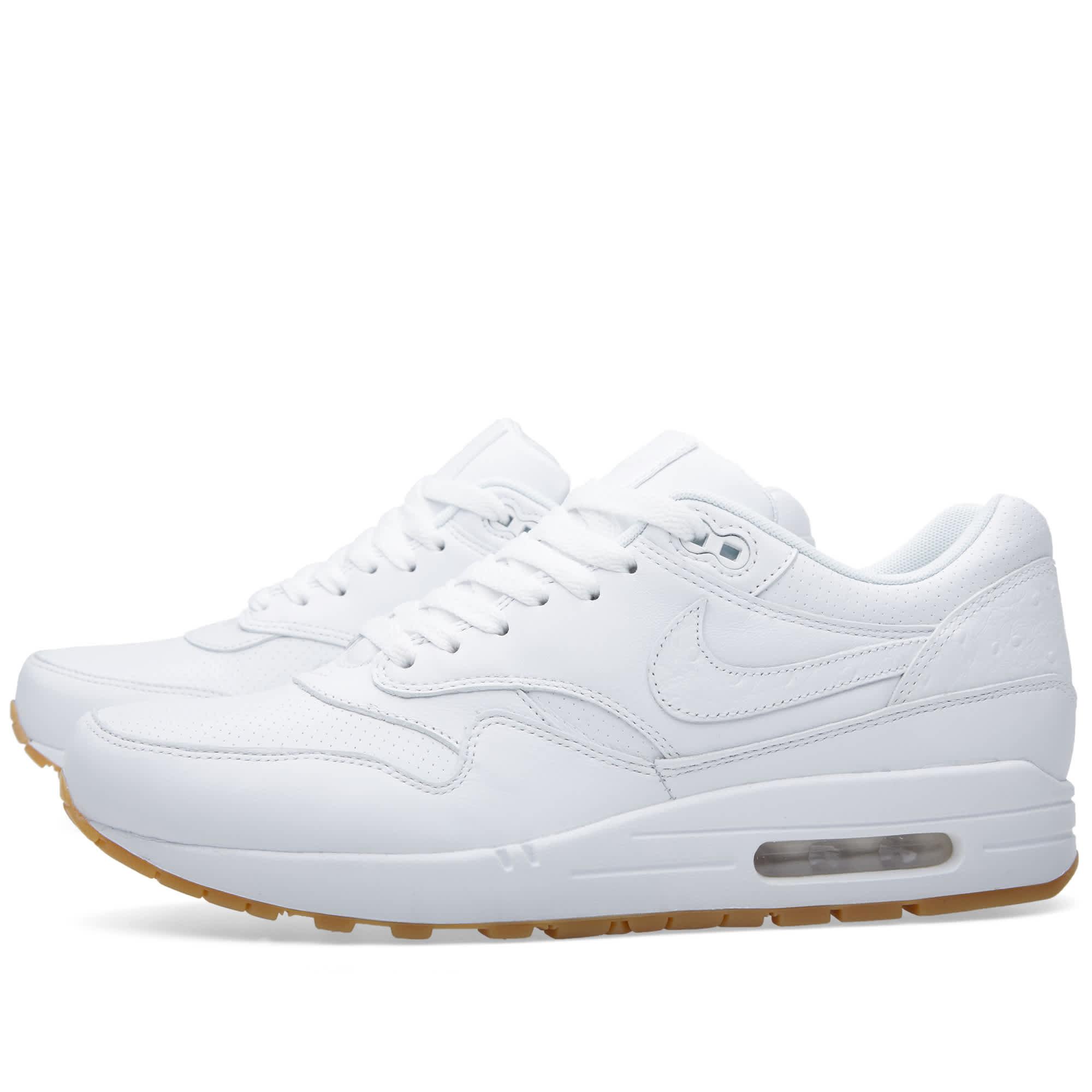 Nike Air Max 1 Leather PA White \u0026 Gum
