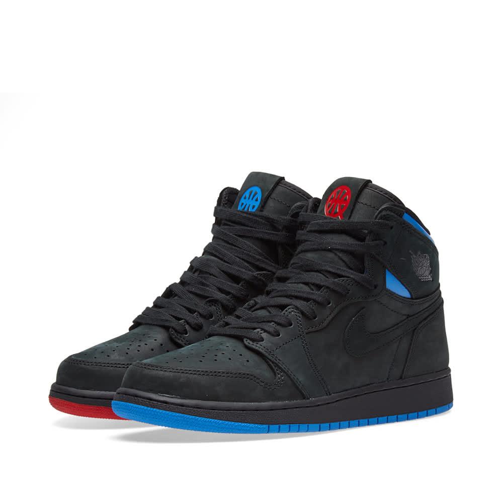 black blue jordan 1