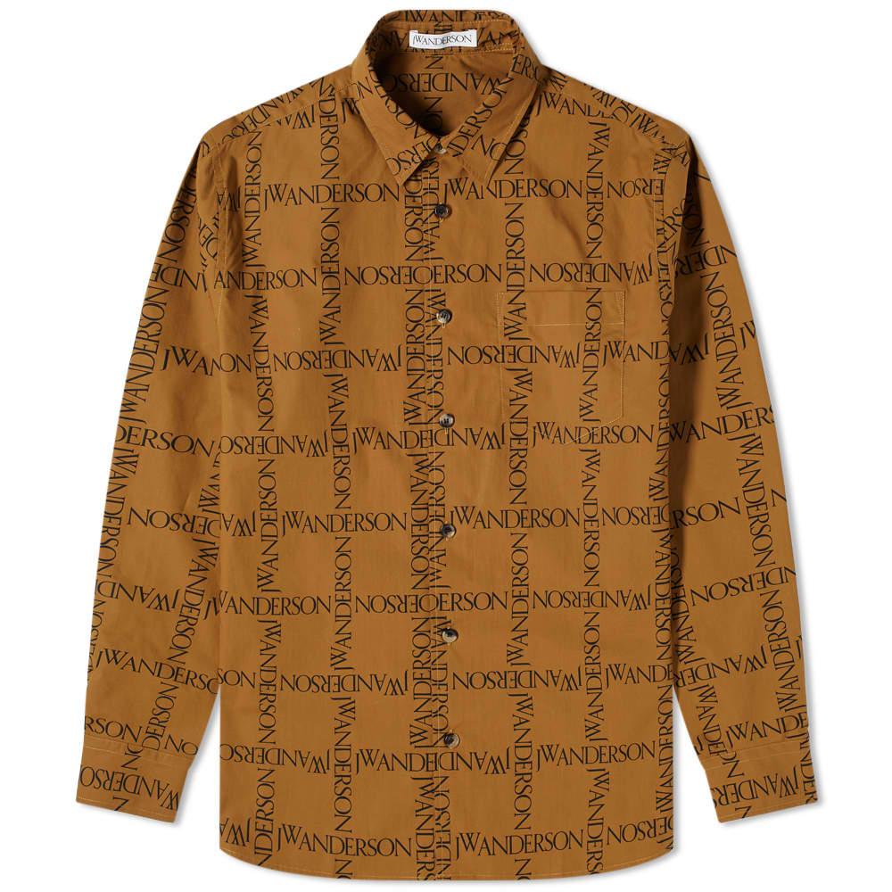 JW Anderson All Over Logo Shirt - Tobacco