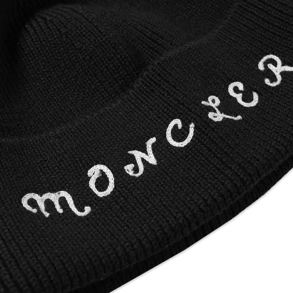 7 Moncler FRGMT Hiroshi Fujiwara Logo Band Beanie Hat - Black