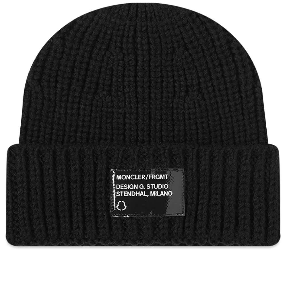 Moncler Genius - 7 Moncler FRGMT Hiroshi Fujiwara Logo Patch Beanie Hat - Black