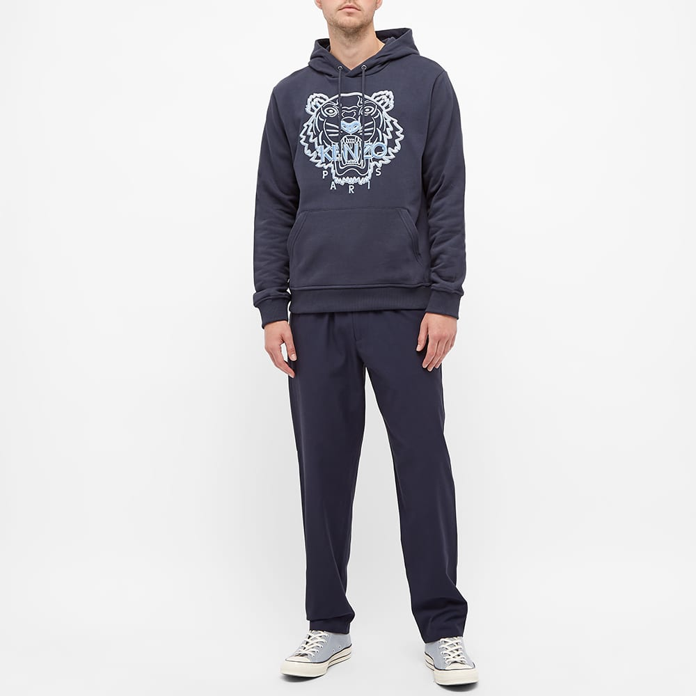 Kenzo Tiger Embroidered Skate Hoody - Blue Black
