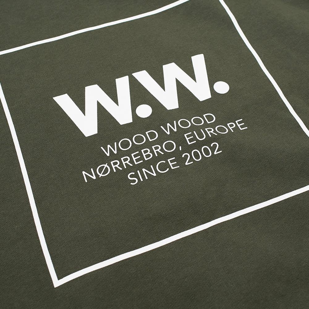 Wood Wood Fred Popover Hoody - Dark Green