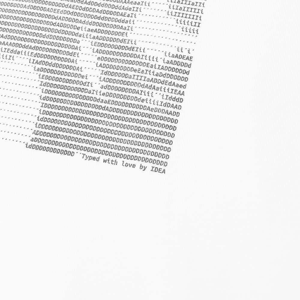 IDEA Sean Penn Type Art Tee - White