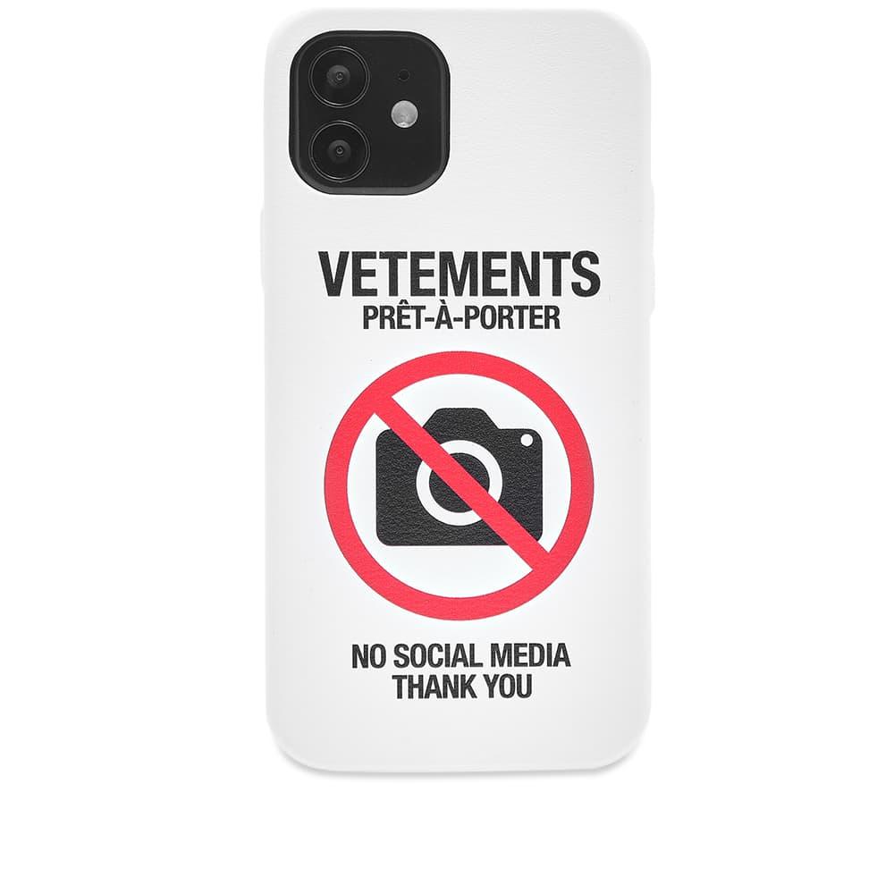 VETEMENTS AntiSocial iPhone 12 Pro Case - White 12 Pro