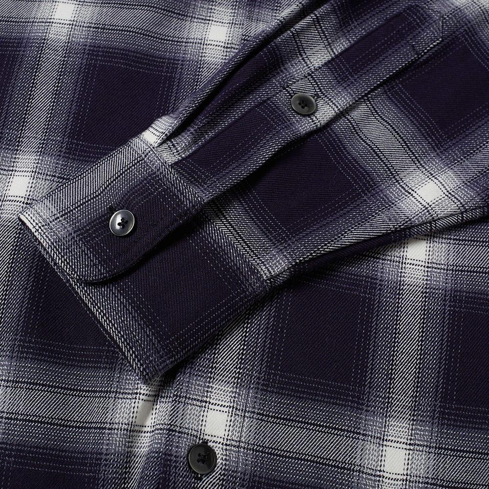 Noon Goons Gonzo Flannel Shirt - Dark Navy & White