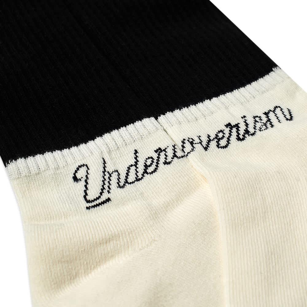 Undercoverism Logo Socks - White