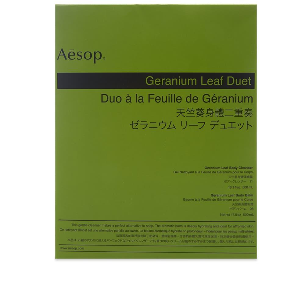 Aesop Geranium Leaf Duet - 2 x 500ml