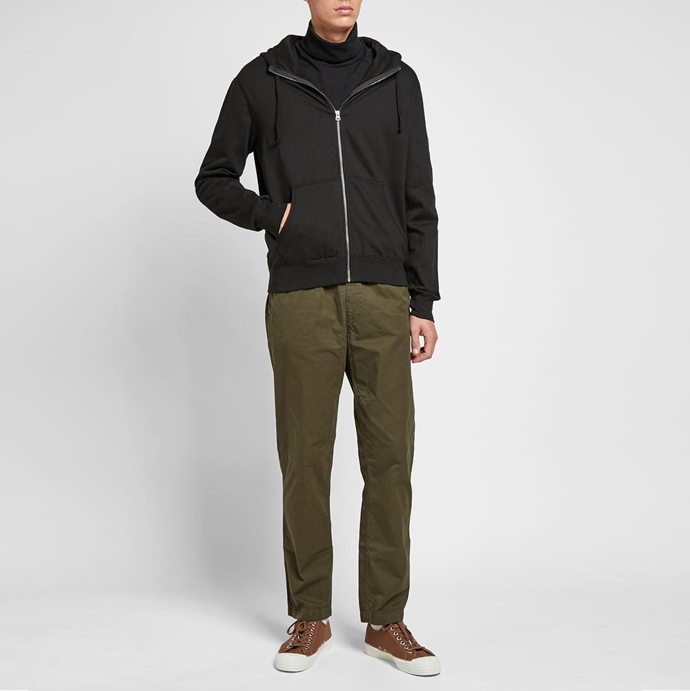 Save Khaki Supima Fleece Zip Hoody - Black