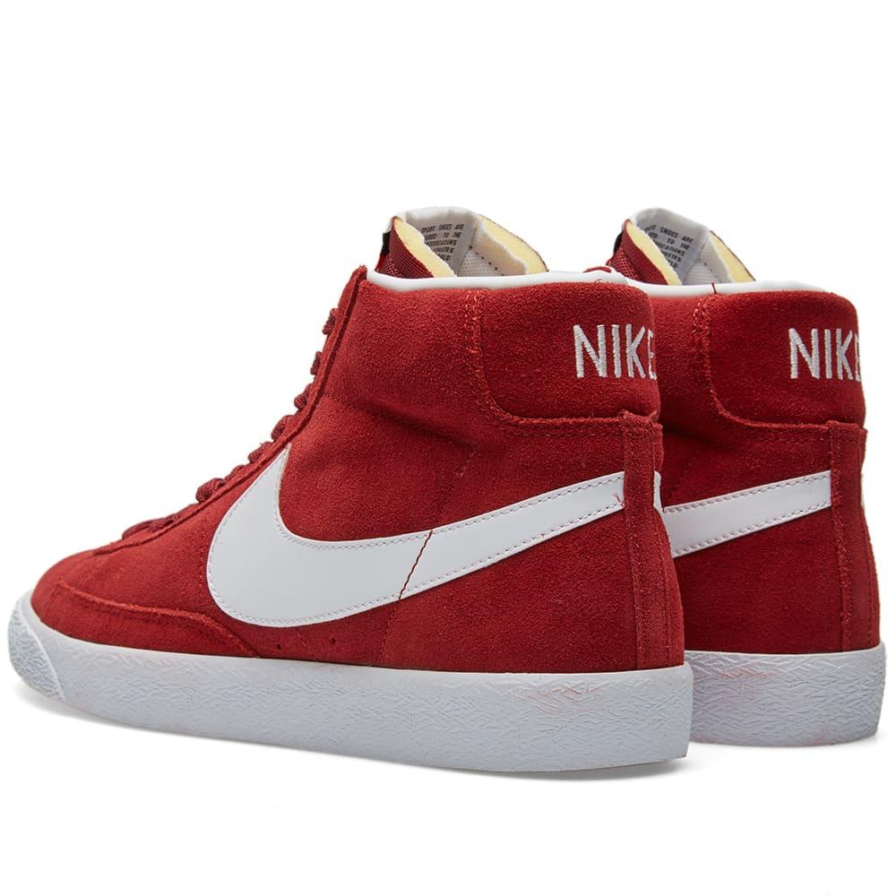 Nike Blazer Mid Premium - Team Red & White