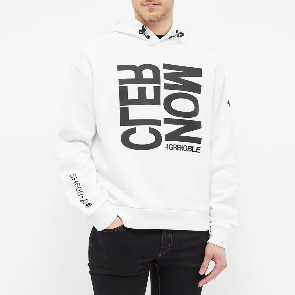 Moncler Grenoble Bold Text Popover Hoody - White