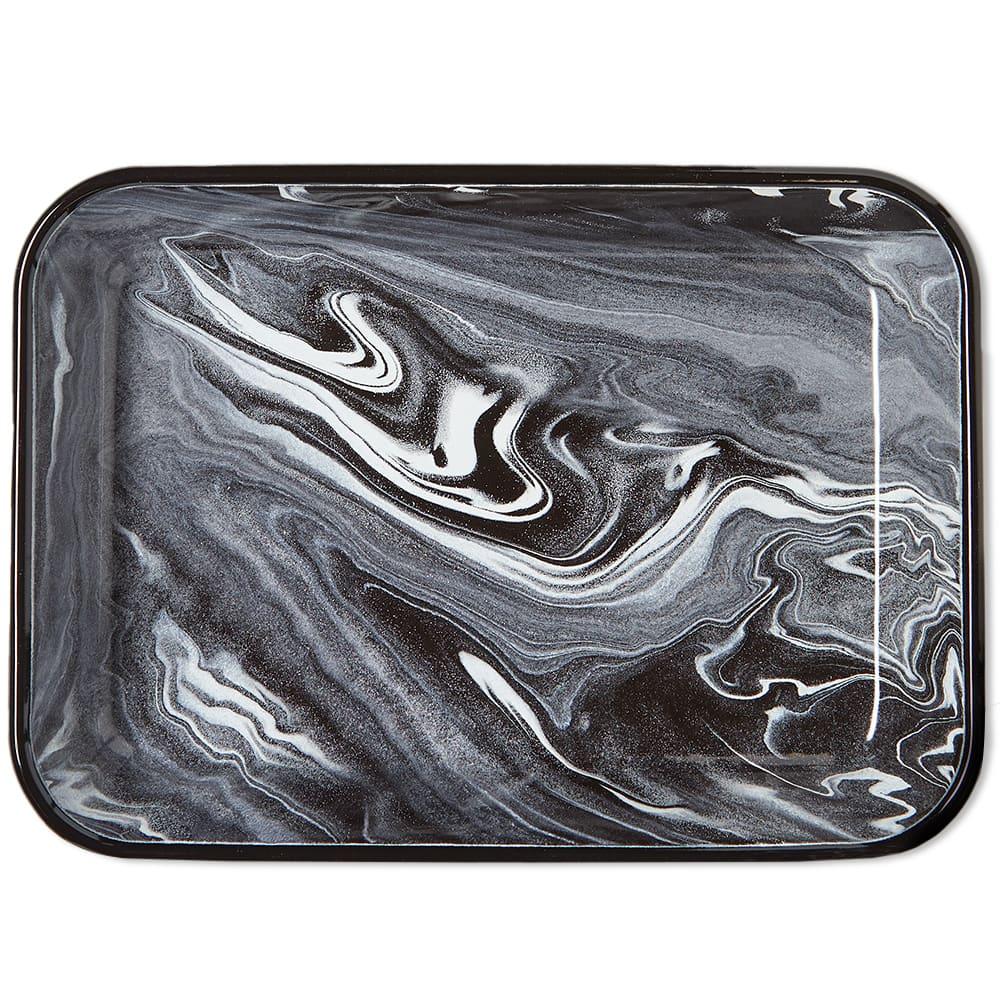 BORNN Enamelware Classic Marble Large Baking Dish - Black