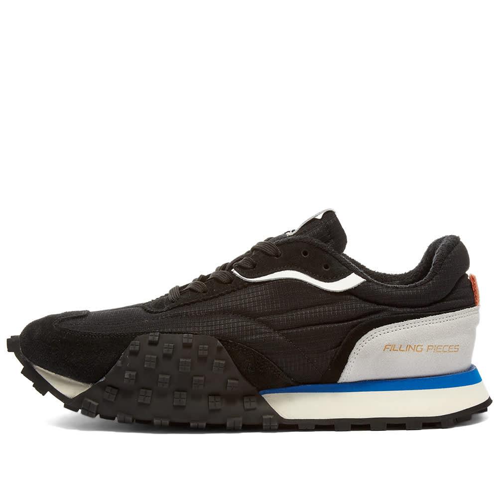 Filling Pieces Crease Runner Wind Sneaker - Black