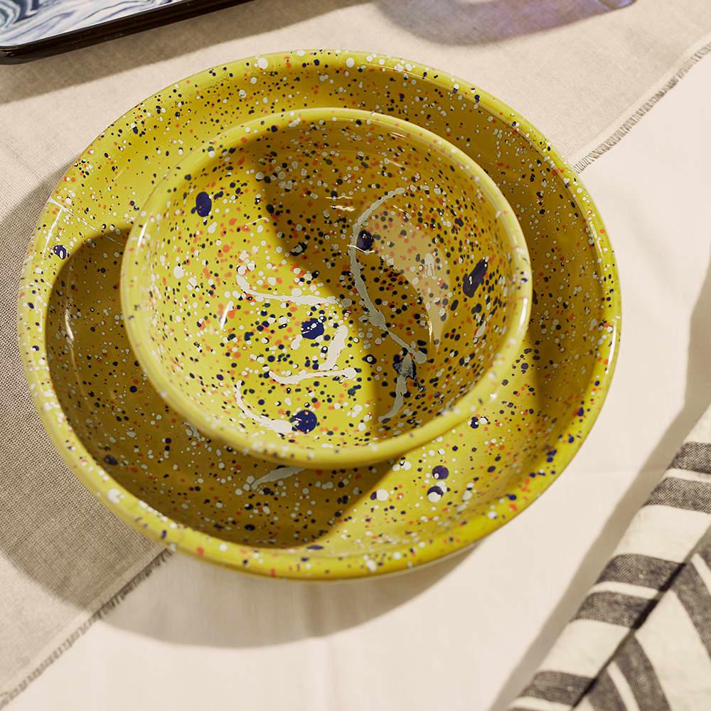 BORNN Enamelware Island Breeze Bowl - Lime