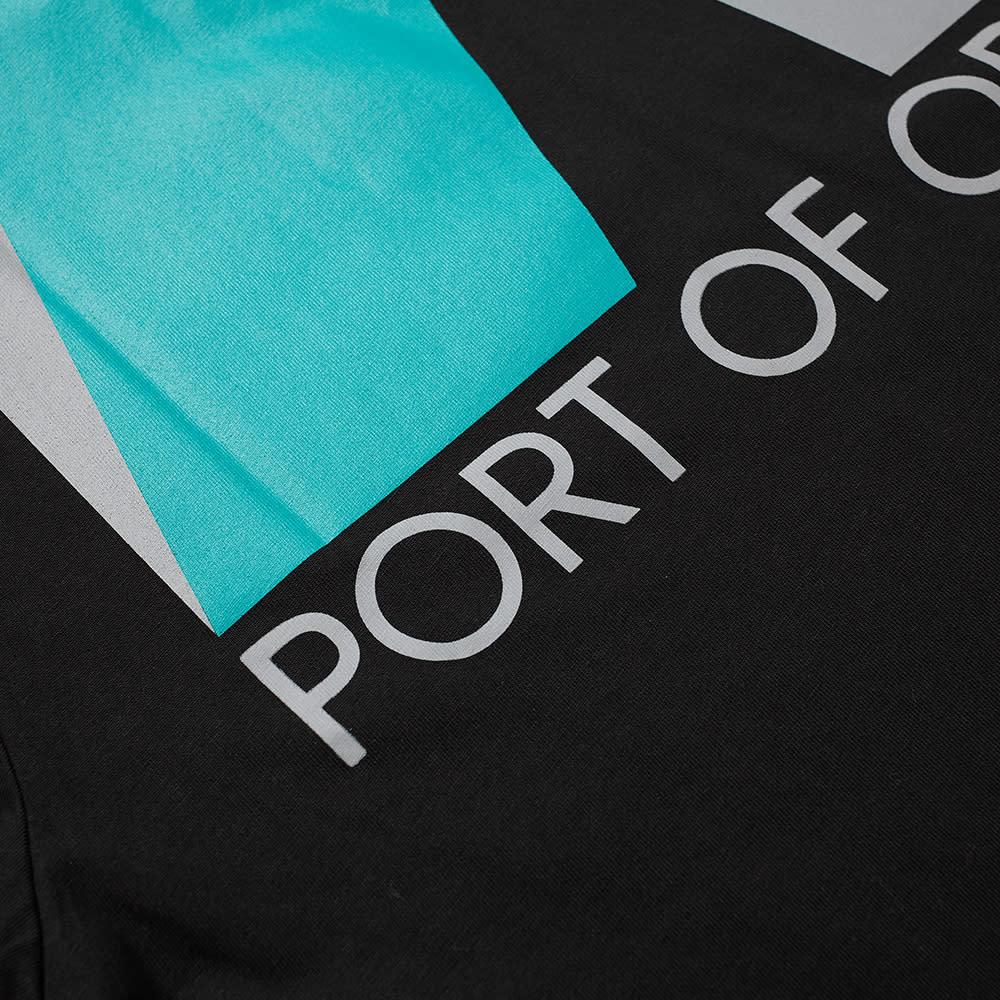 MCQ Port Of Origin Back Tee - Darkest Black