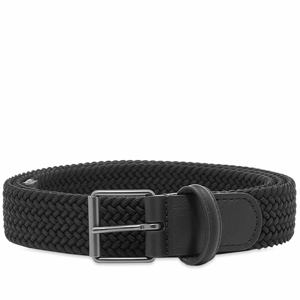 Anderson's Slim Woven Textile Belt - Black