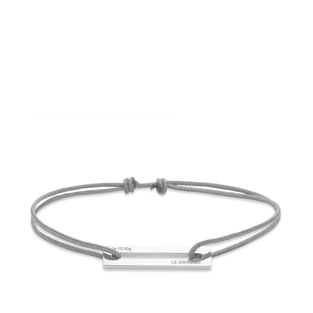 Le Gramme 17/10 Cord Bracelet - Grey