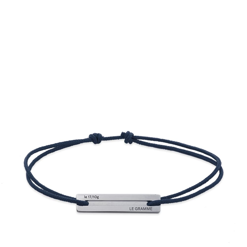 Le Gramme 17/10 Cord Bracelet - Marine