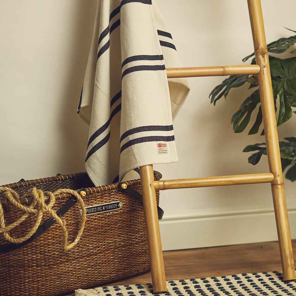 Puebco Cotton Bath Towel - Narrow Stripe