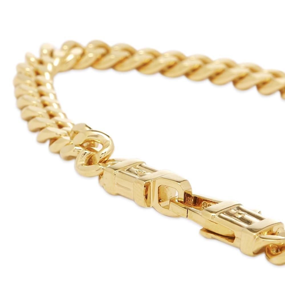 "Tom Wood 7.7"" Curb Bracelet L - Gold"