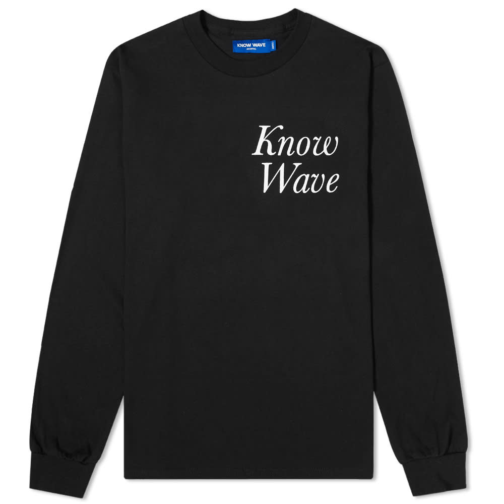 Know Wave Long Sleeve Rising Sun Tee - Black