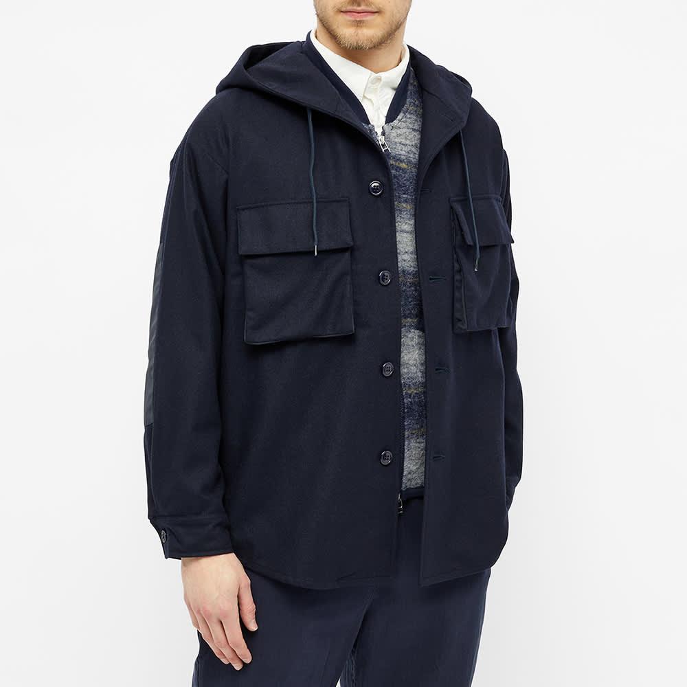 Arpenteur Wool Serge Jopo Jacket - Navy
