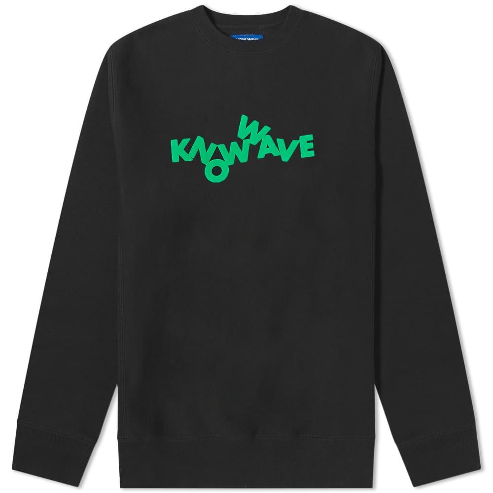 Know Wave Tumblr Puff Print Crew Sweat - Black