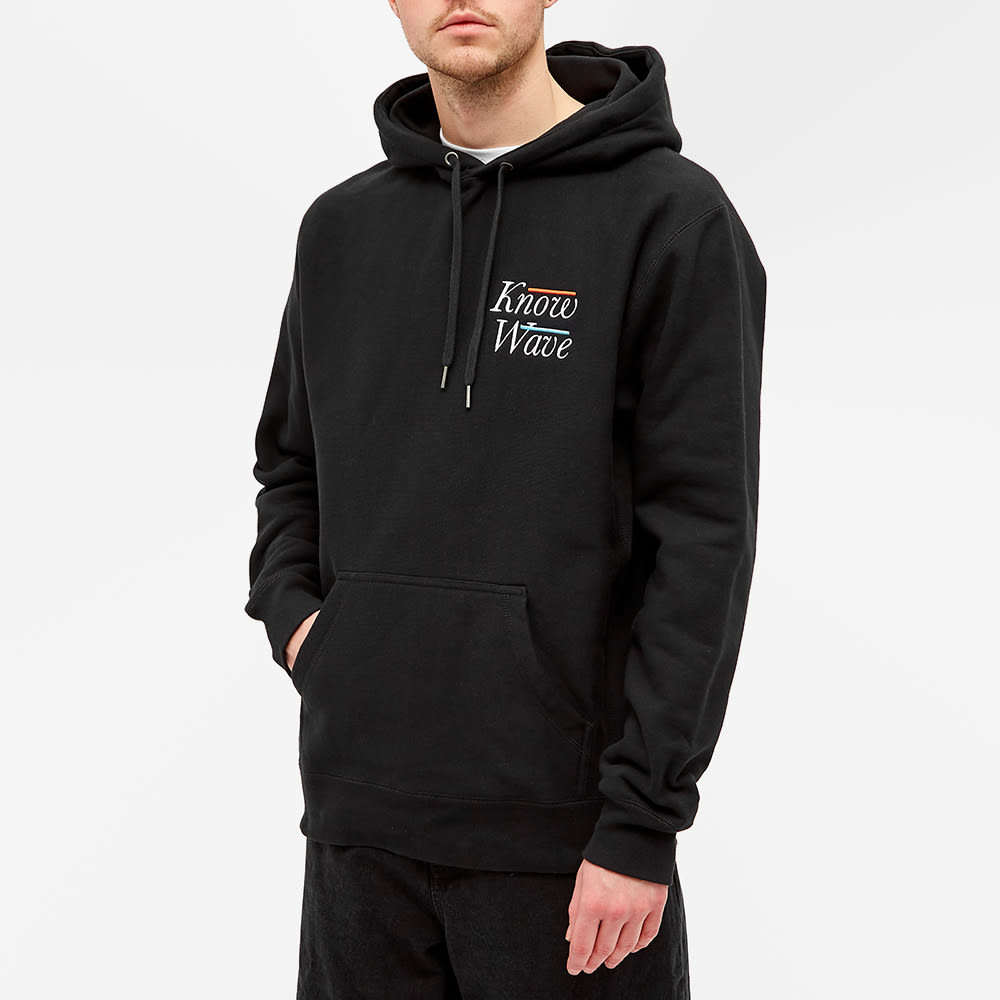 Know Wave Embroidered Serif Hoody - Black