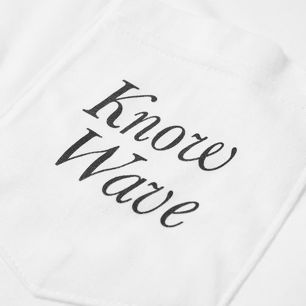Know Wave Serif Pocket Tee - White