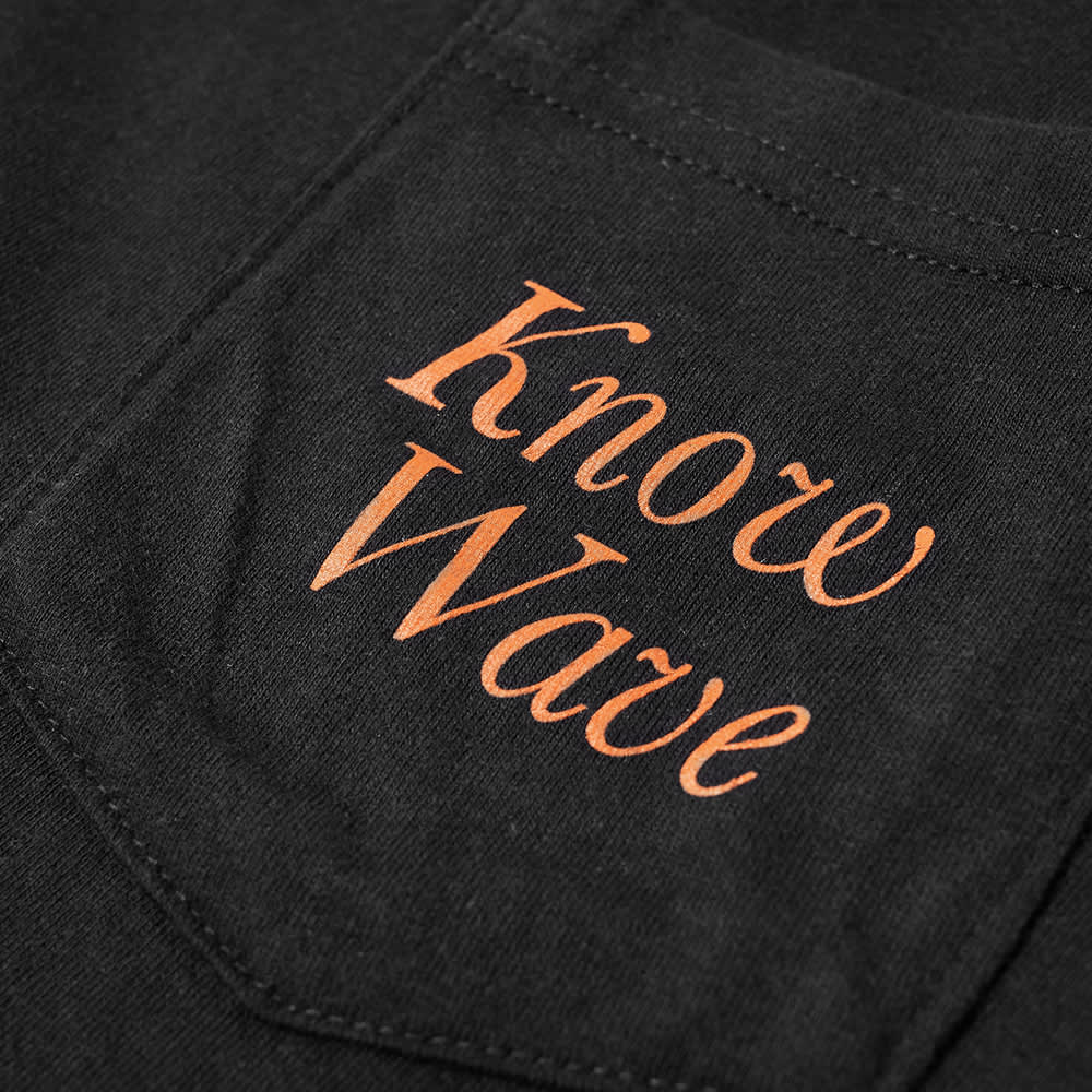 Know Wave Serif Pocket Tee - Black