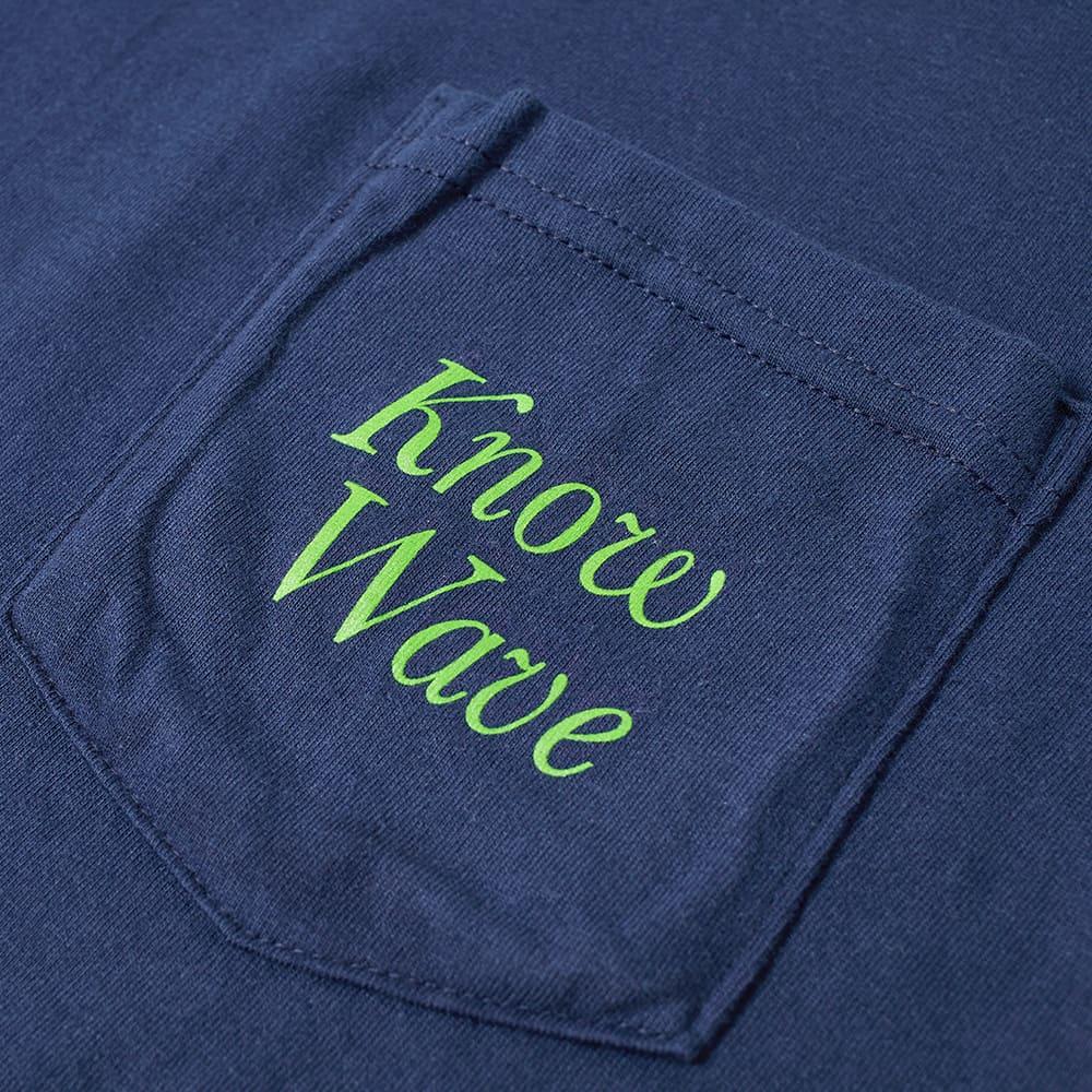 Know Wave Serif Pocket Tee - Navy