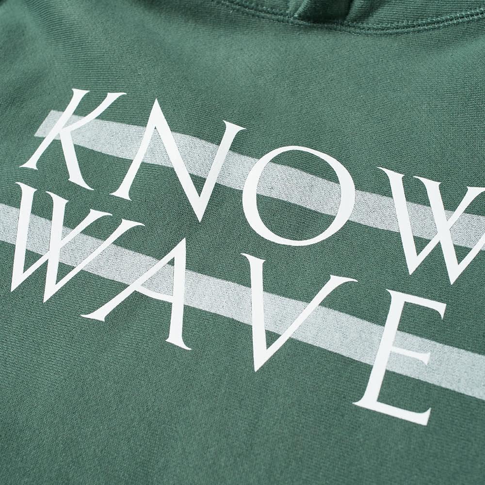 Know Wave Screenprinted Wavelength Hoody - Olive