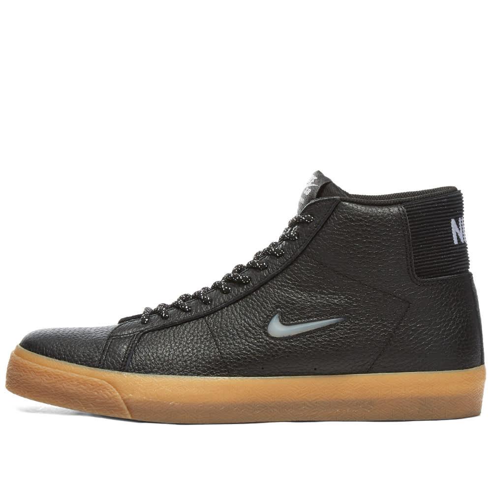 Nike SB Zoom Blazer Mid PRM C - Black, White & Brown