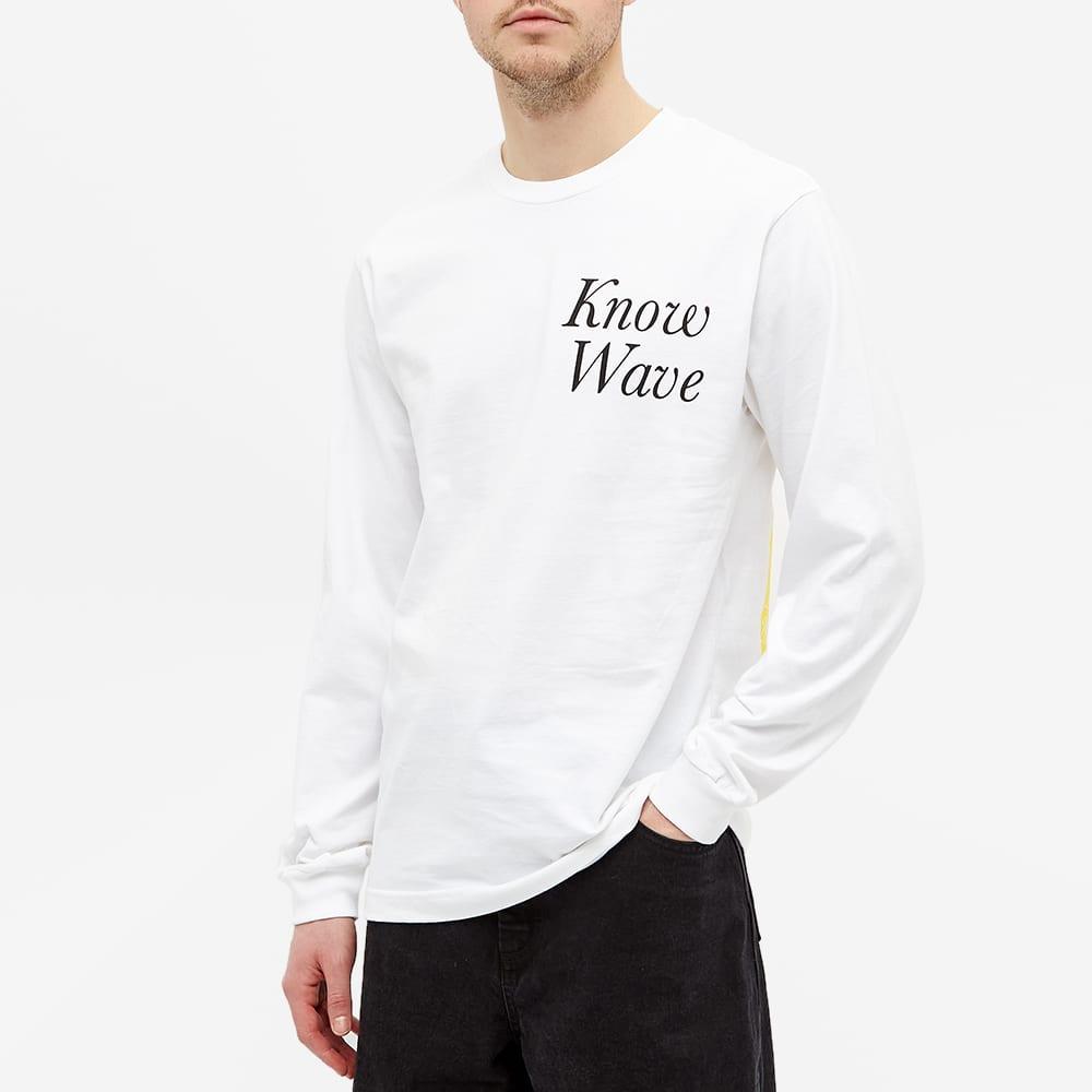 Know Wave Long Sleeve Rising Sun Tee - White