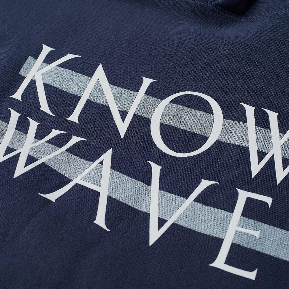 Know Wave Screenprinted Wavelength Hoody - Navy