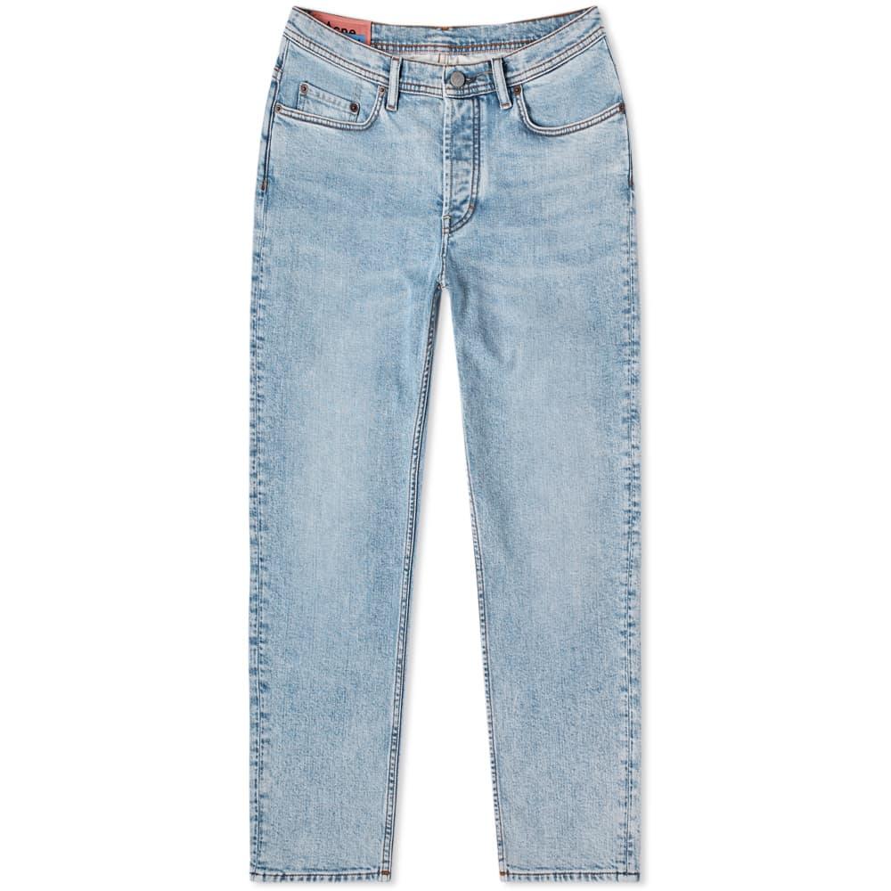 Acne Studios River Slim Tapered Fit Jean - Marble Wash Indigo