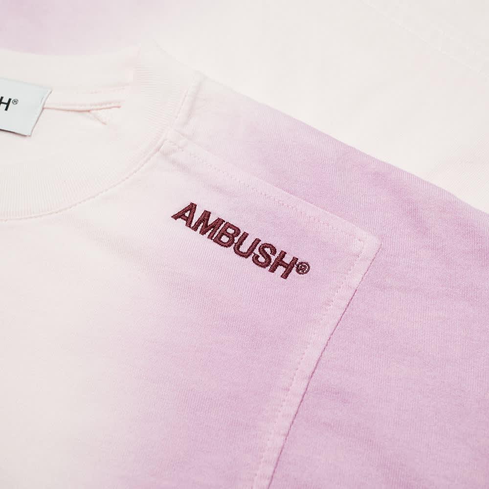 Ambush Tie Dye Panel Tee - Light Pink & Multi