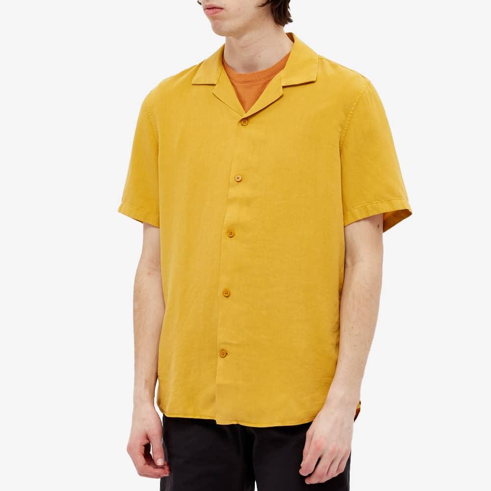 NN07 Miyagi Linen Vacation Shirt - Warm Yellow