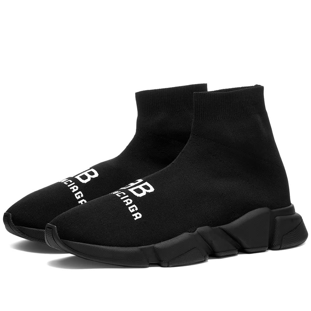 Balenciaga BB Logo Speed Runner - Black & White