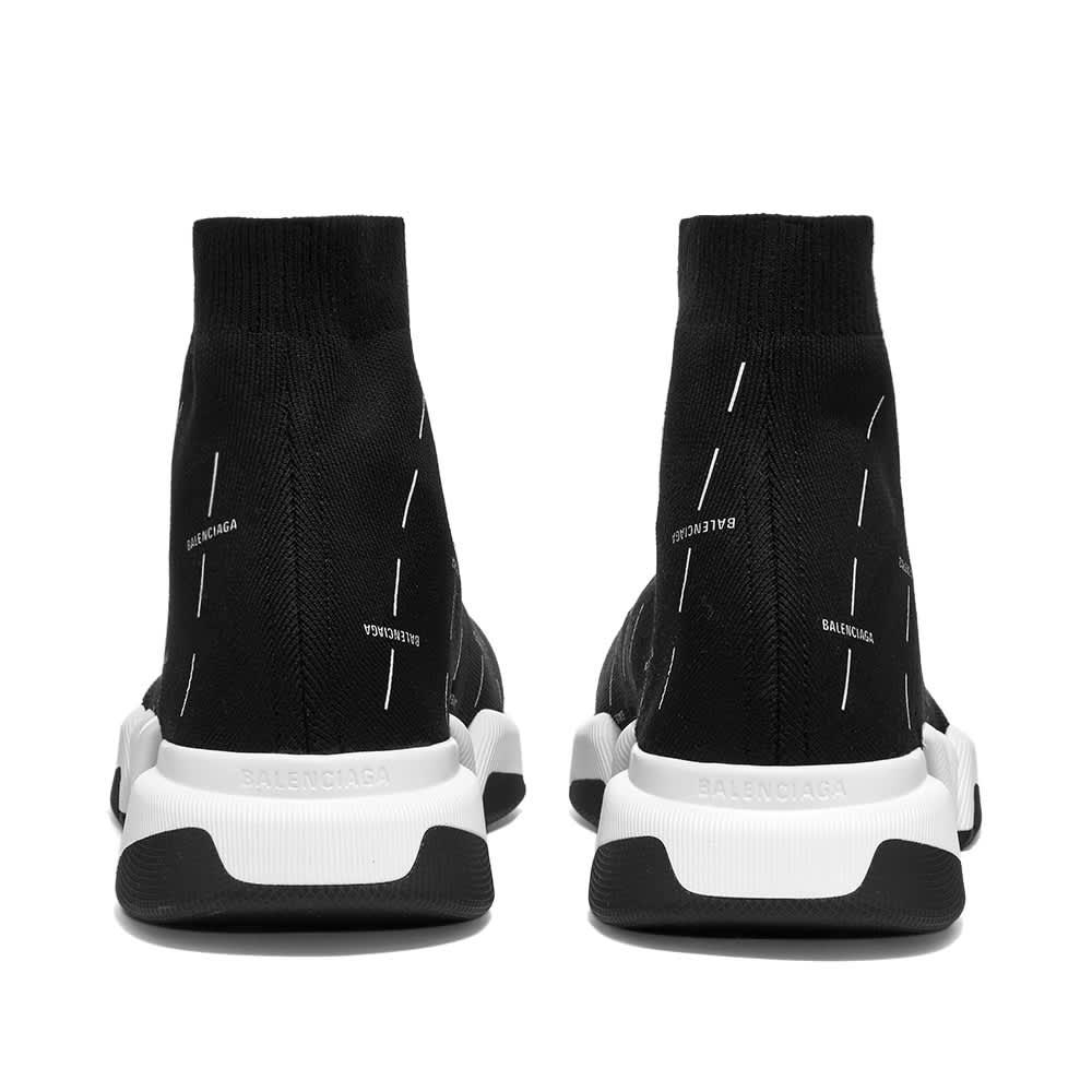 Balenciaga All Over Logo Speed Runner 2.0 - Black & White