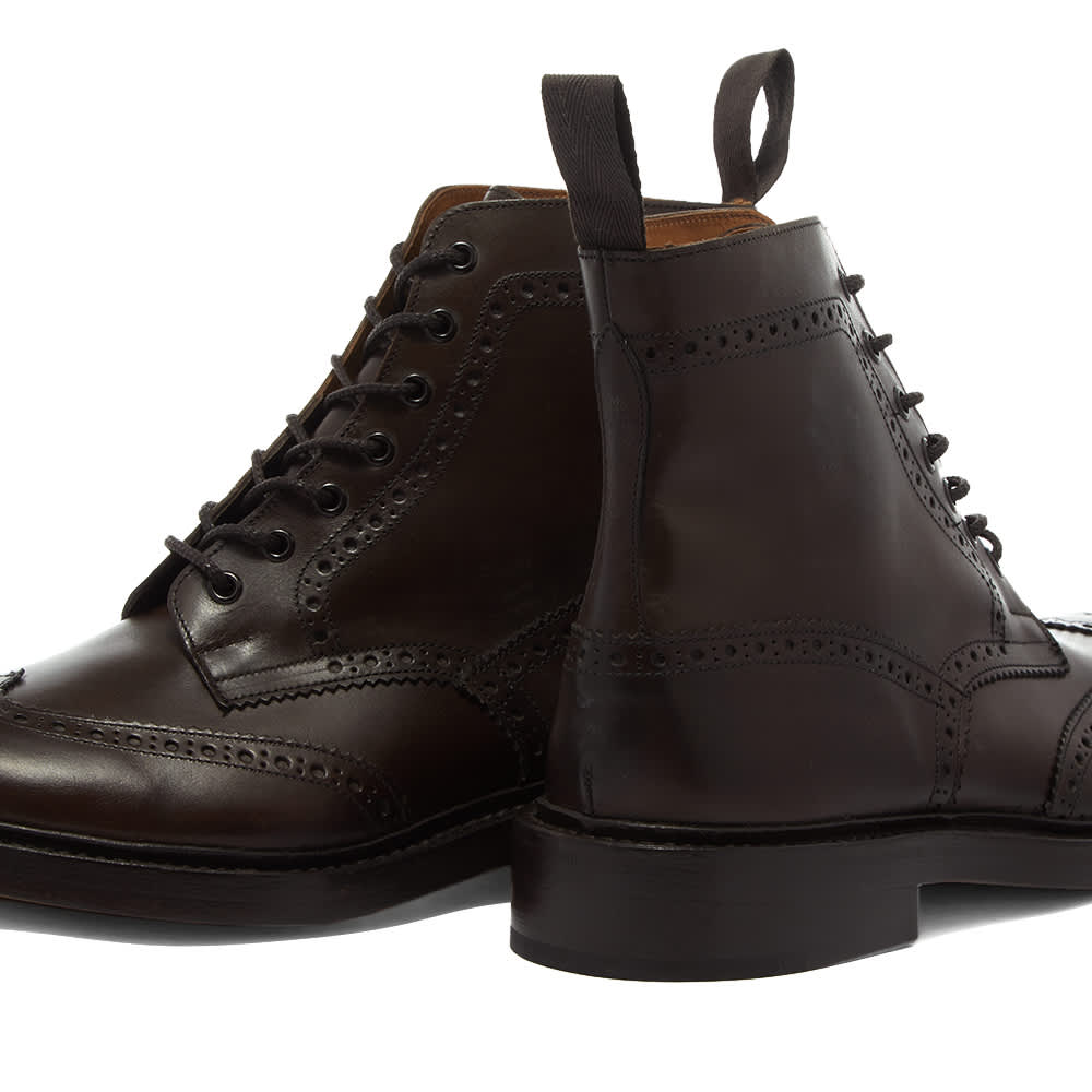 Trickers Stow Brogue Boot - Espresso Burnished