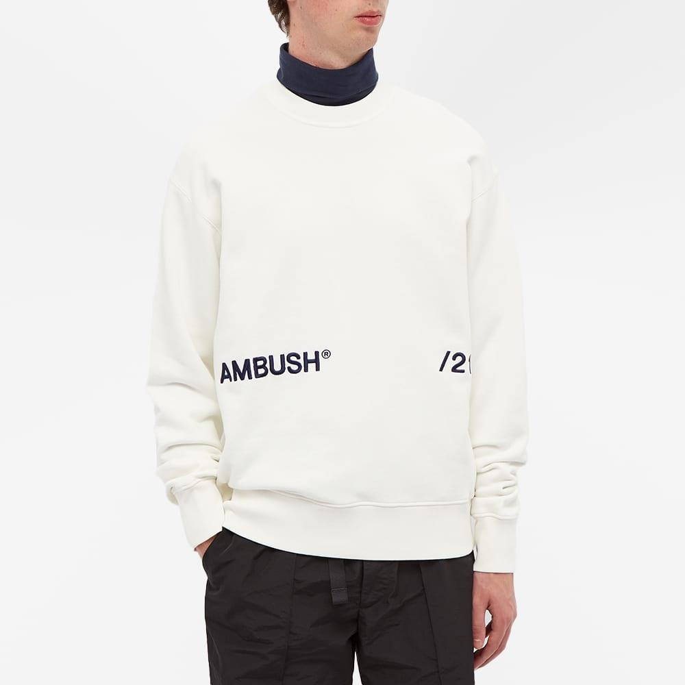 Ambush Inserts Logo Crew Sweat - Off White