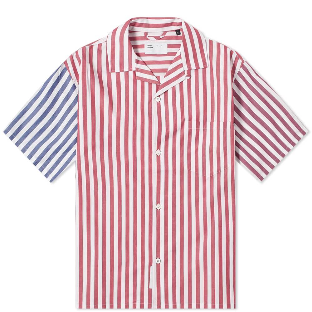 4SDesigns Combo Wide Camp Shirt - Navy, Brown, Burgundy