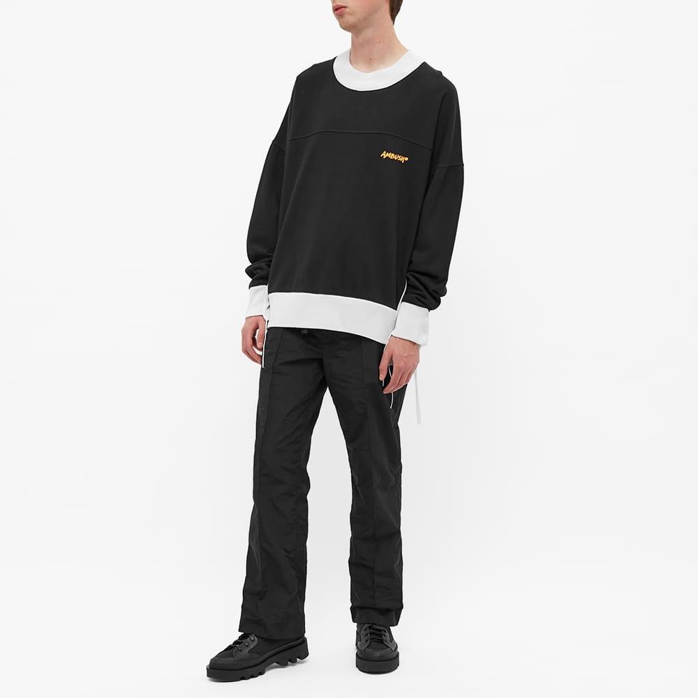 Ambush Panel Fleece Logo Sweat - Black & Orange