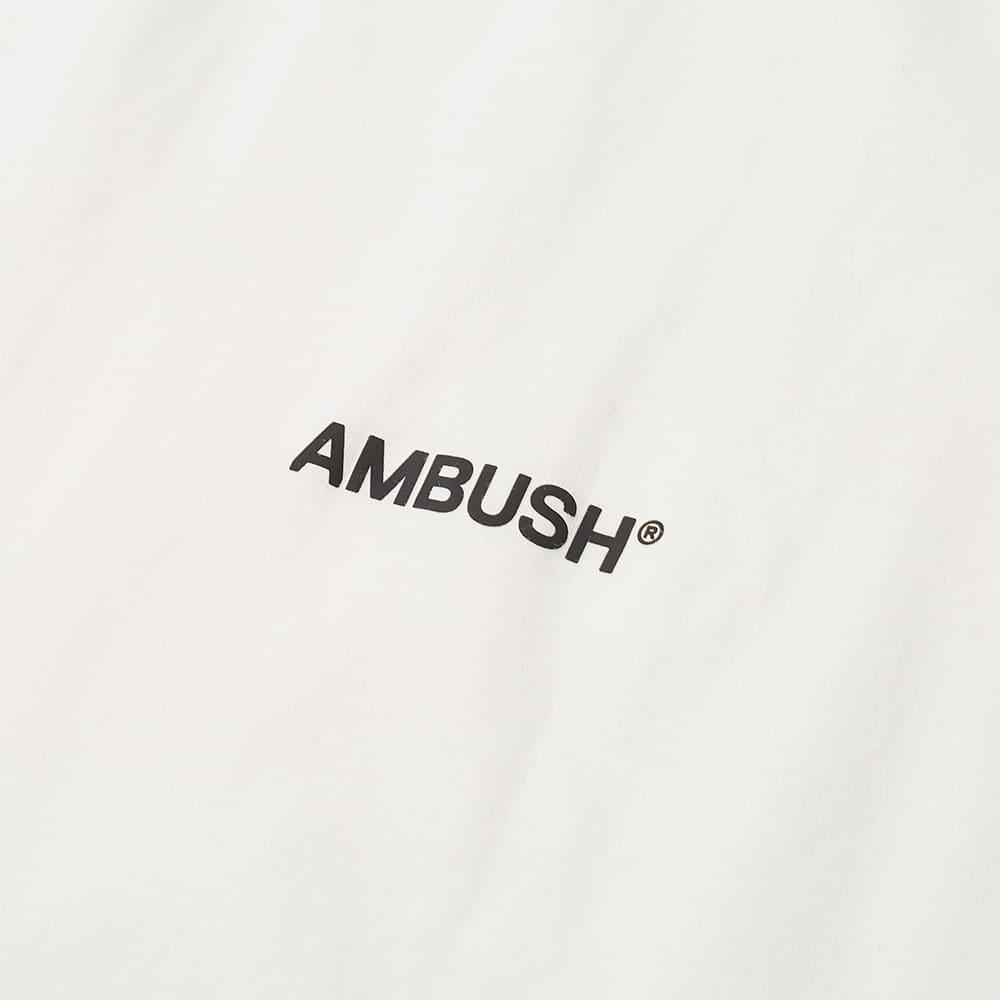 Ambush Long Sleeve Logo Turtle Neck Tee - Off White & Black