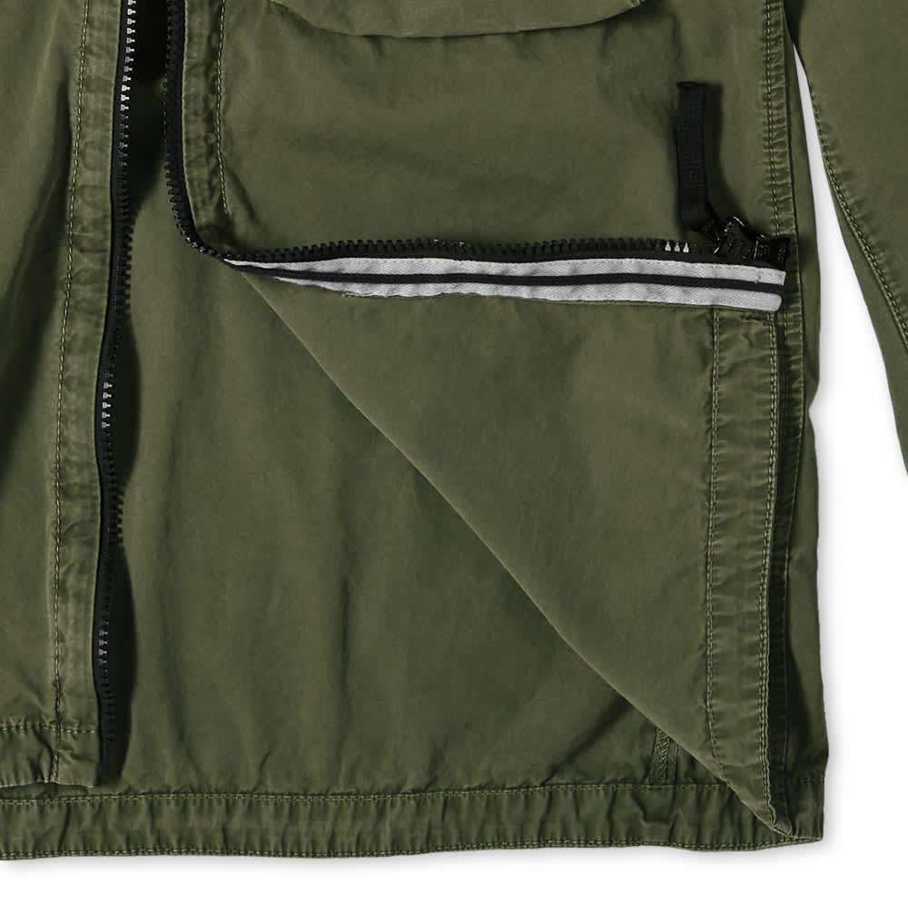 Stone Island 2 Pocket Brushed Cotton Shirt Jacket - Sage