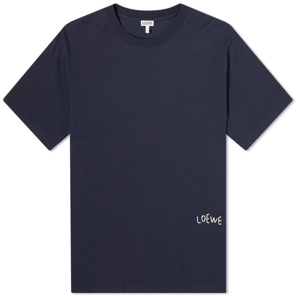 Loewe Embroidered Tee - Navy