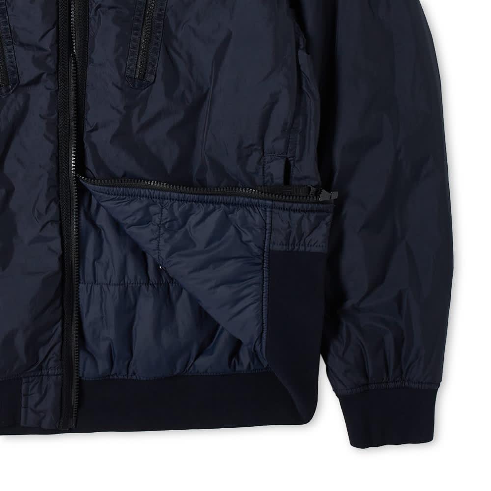 Stone Island Crinkle Reps Pocket Detail Down Jacket - Navy