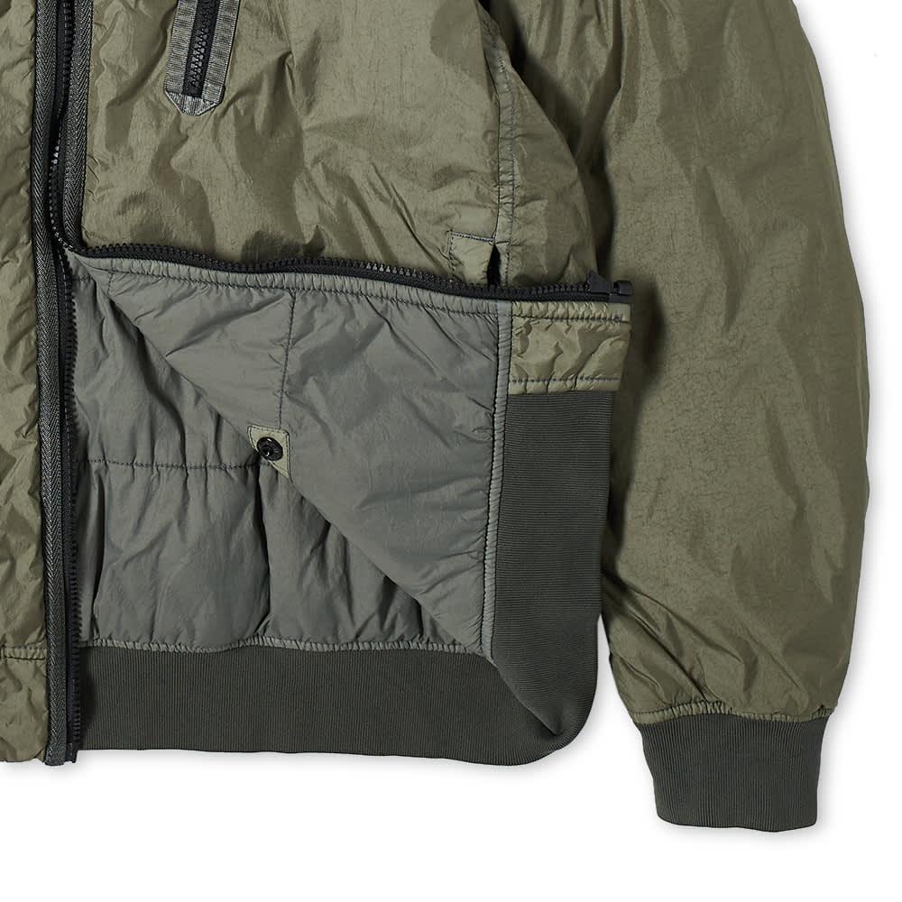 Stone Island Crinkle Reps Pocket Detail Down Jacket - Sage